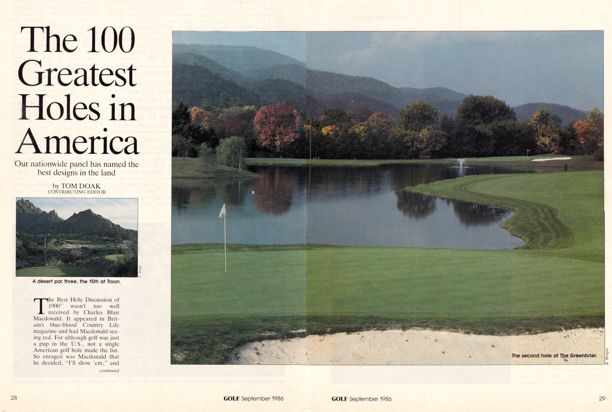 The 100 Greatest Holes in America