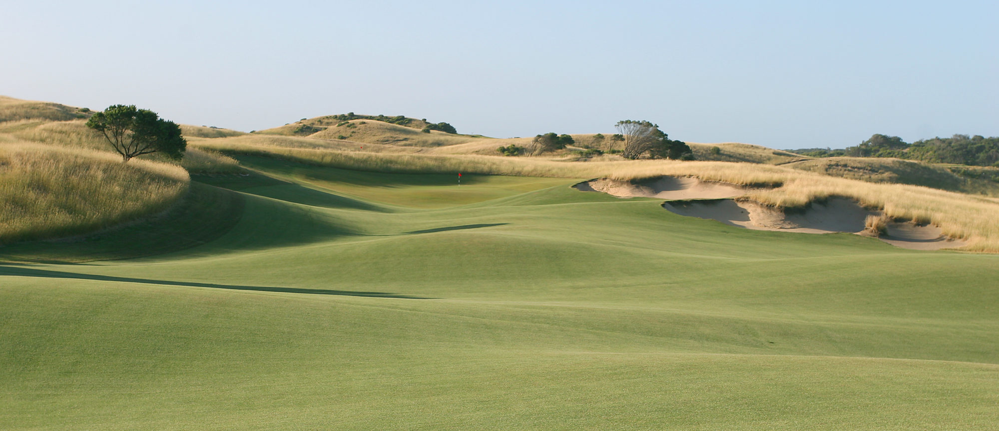 The long approach to the 13th is a highlight of the course.