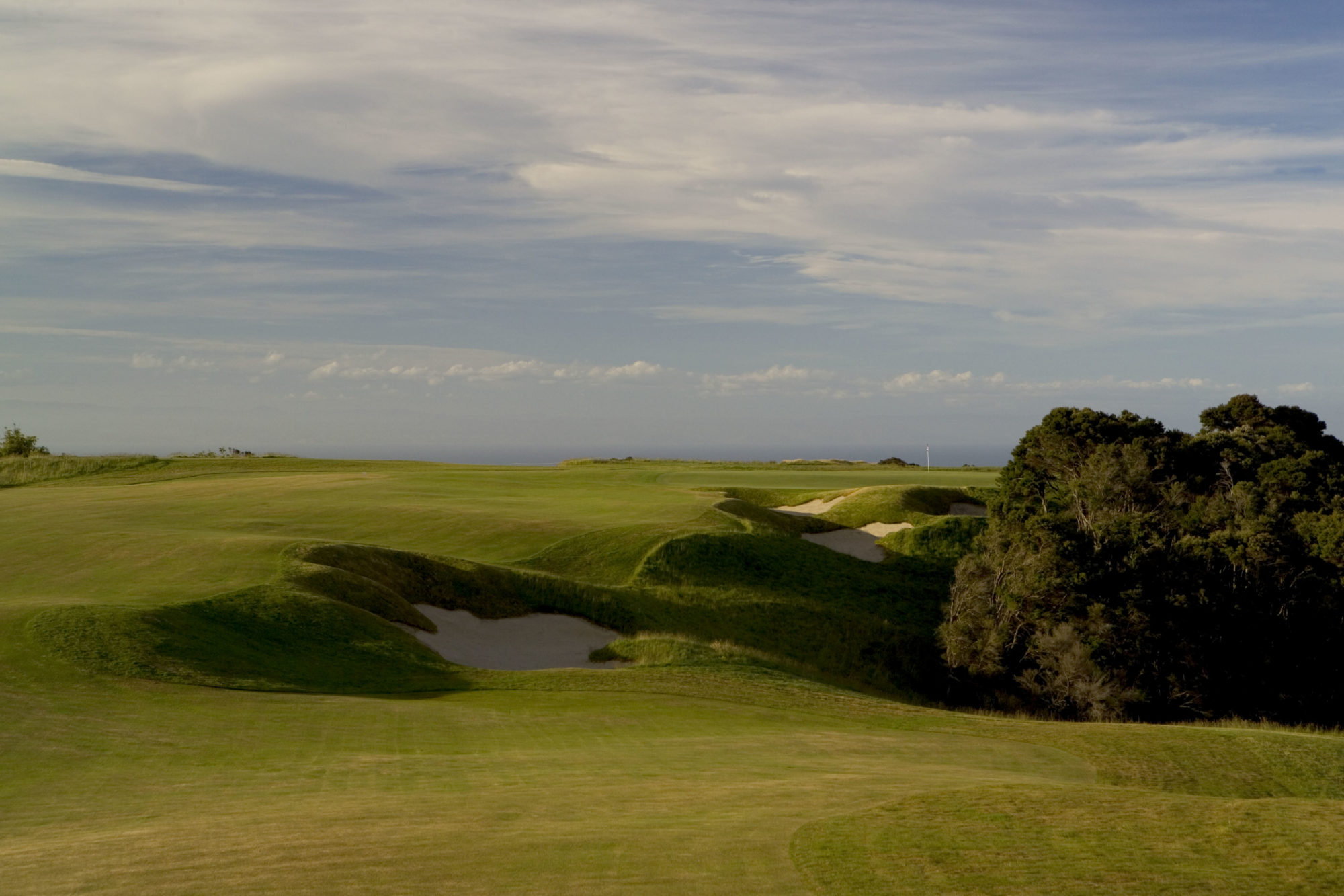 Going for the green in two at the par-5 4th is a classic example of risk vs. reward.