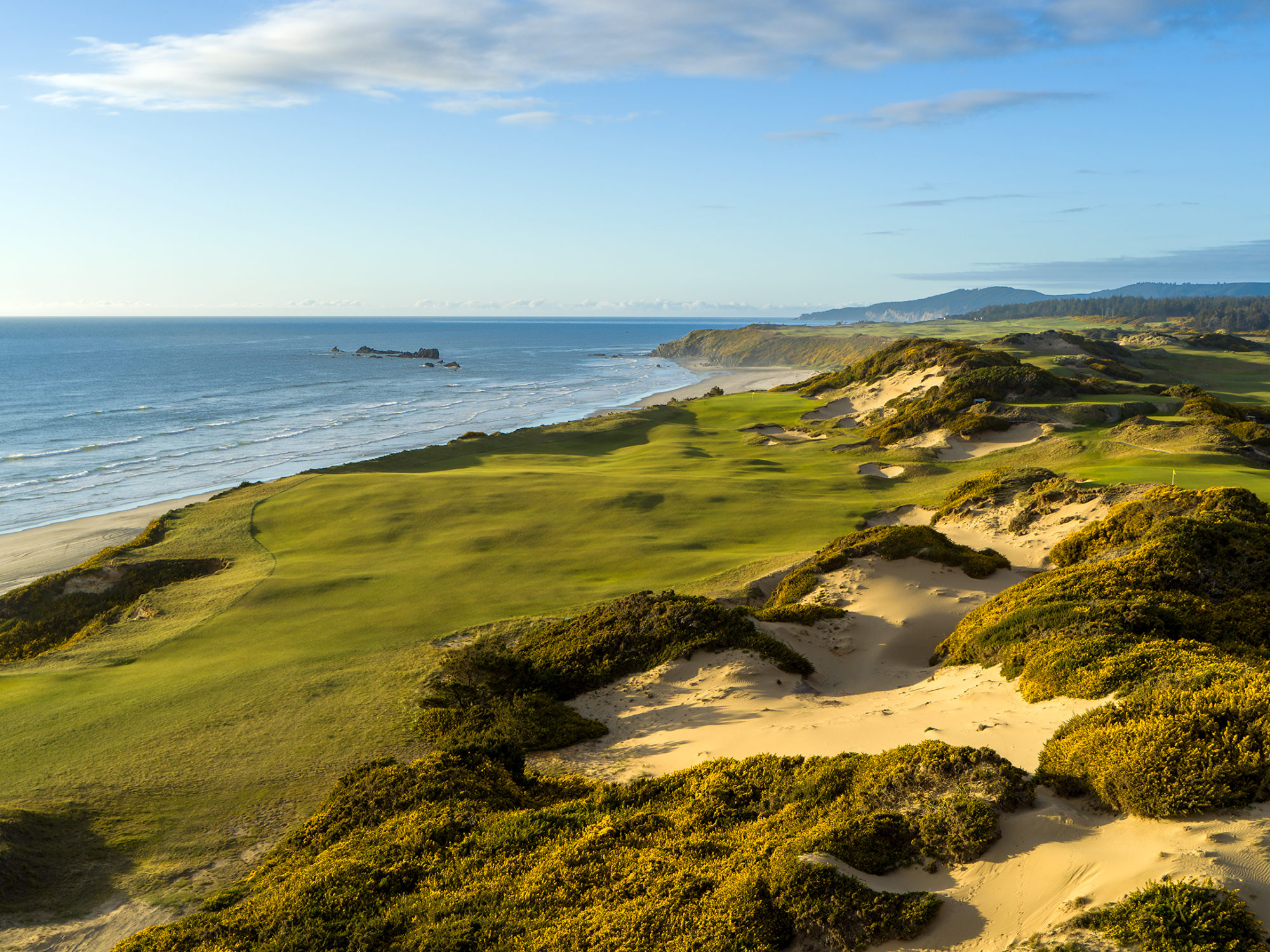 Designed by Tom Doak, the 13th hole of Pacific Dunes at Bandon Dunes Golf Resort is one of the best par 4's in the world. This image was captured in the late afternoon with an Inspire 2 using the X& camera. Bandon Dunes is one of the top golf destinations in the world.