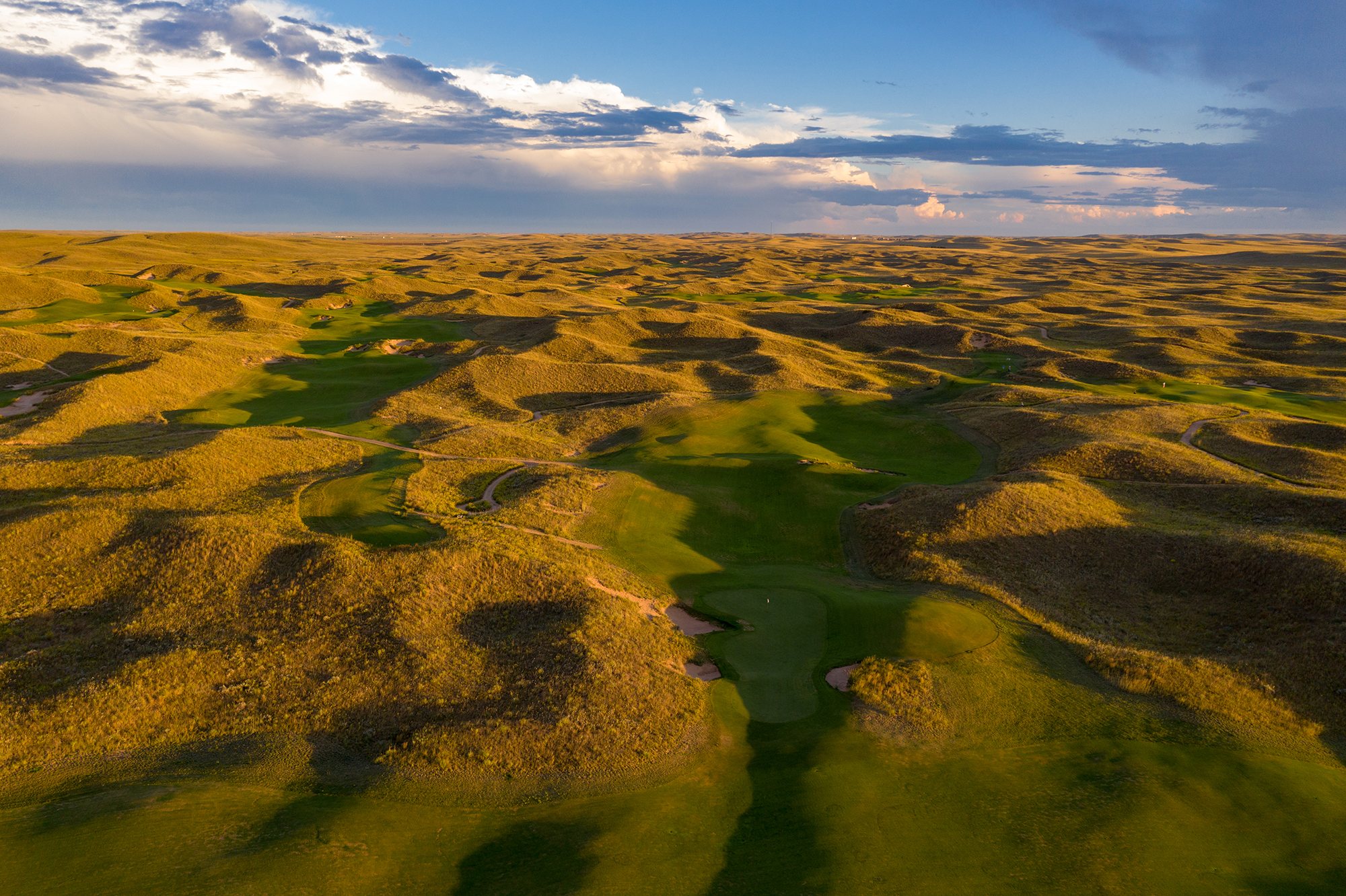 Lying in a narrow valley, the 7th green at Ballyneal is one of the most original I've built.